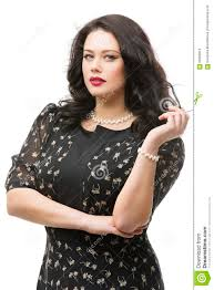 plus size model in dress stock photo image 56280019
