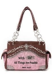 western cowgirl bible verse design two side pocket satchel bag