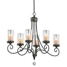 Kichler Lighting Chandelier Lara 6 Light Chandelier Shadow Bronze