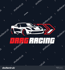 sports car logos sport car logo illustration drag racing stock vector 524606743