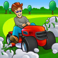 riding lawn mower cartoon yard lanscaping idas pinterest