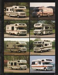 mini motorhome gm 1985 recreation vehicles chevy truck sales brochure
