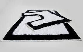 Gray And White Bathroom Rugs Black And White Bathroom Rug Roselawnlutheran