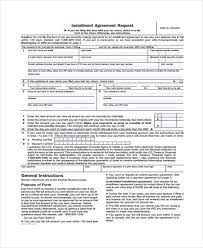 7 installment agreement form samples free sample example