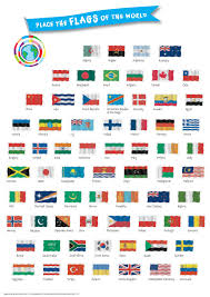 World Map With Flags World Map Poster In Tube With Stickers