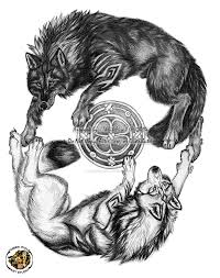 yin yang wolf design sold by i whitelightning i on deviantart