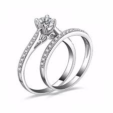 engagement rings for couples charm silver engagement rings for couples eternity