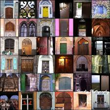 colorful world doors and windows photography square collage