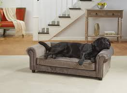 Bathtubs For Dogs Enchanted Home Pet Manchester Velvet Tufted Dog Sofa With Cushion