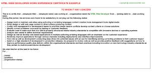 html web developer job title docs