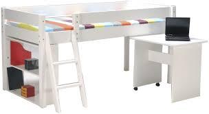 bureau surélevé lit sureleve avec bureau integre 2 lit bureau enfant choix et