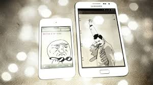 Iphone 4s Meme - what did the samsung galaxy note say to the apple iphone 4s
