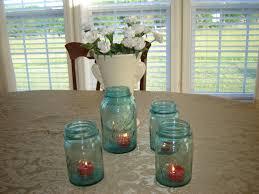 irish wedding table decoration idea u2013 green ball mason jars