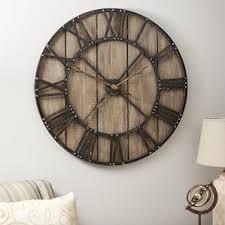 Large Mirrored Wall Clock Wall Clocks You U0027ll Love Wayfair