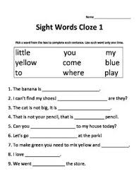 best 25 kindergarten sight word worksheets ideas on pinterest
