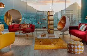 décoration canapé coloré ethnique scandinave le canapé fait dans le