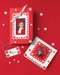 punched snowflake photo cards and gift tags martha stewart