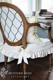 Dining Chair Slipcovers With Arms Dining Chair Slipcover Tutorial Miss Mustard Seed