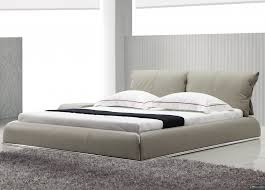 Contemporary Platform Bed Yeolani Home Modern Contemporary Beige Leather Platform Bed Fade