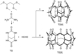 template directed synthesis of cucurbituril analogues using