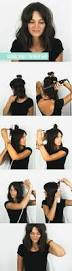 hairstyles for curly hair with bangs medium length 15 cute easy hairstyle tutorials for medium length hair gurl com