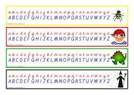 printable alphabet worksheets uk ks1 alphabet strips and tabletop alphabet lines sparklebox