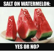 Watermelon Meme - salt on watermelon yes or no funny meme on me me