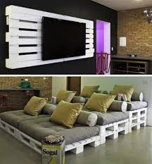 Home Theater Decorating Ideas On A Budget Cheap And Easy Pallet Home Theater Ideas Could Bust This Out Of
