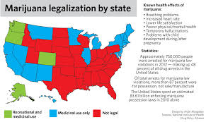 Medical Marijuana Legal States Map by Ahead Of Hash Bash University And State Policy On Marijuana