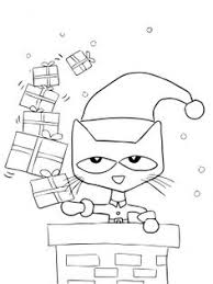pete cat saves christmas coloring supercoloring
