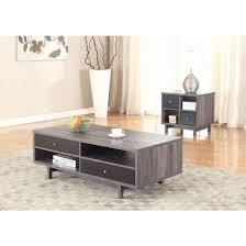 coaster 705388 coffee table in antique grey black