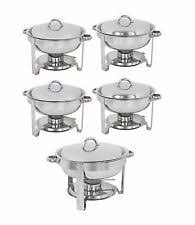 chafing dish set warmer dishes burner stainless steel 4 quart