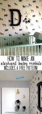 how to make an elephant baby mobile at home with ashley