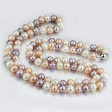 best pearl necklace images Buy snh 100 925 sterling silver clasp real jpg