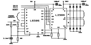 two phase bipolar stepper motor control circuit diagram circuit