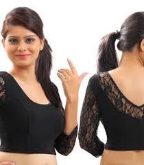 net blouse pattern 2015 buy black lace crochet stretchable blouse and crop top readymade