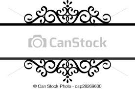 vector clipart of ornamental vignette decorative vignette