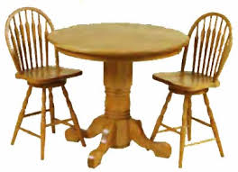 Oak Bistro Table Gathering Tables From All Our Amish Craftsman