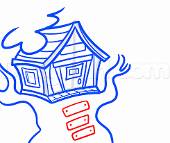 House Drawing How To Draw A Treehouse Step By Step Buildings Landmarks