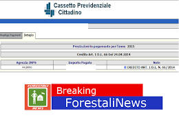 cassetto previdenziale cittadino inps forestali news live forestali accreditato il bonus renzi