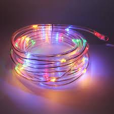 outdoor tube lighting tanbaby 7m 50 led solar string lights tube copper string