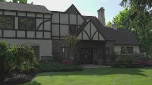 one family house tudor architecture usa 4k stock video 856