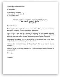 new employee welcome letter example from some old files and had to