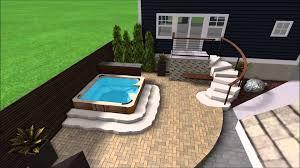 landscape design 3d digital walkthrough backyard patio bar