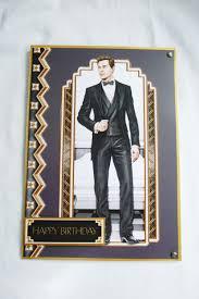 art deco birthday card greeting card male 1920 u0027s any age