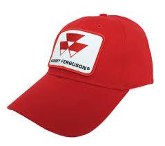 massey ferguson logo solid red cap allis oliver massey
