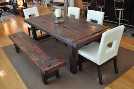 Dining Room Tables Rustic Rustic Dining Table With Bench Decoration Lofihistyle Custom