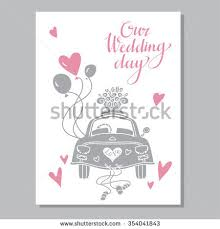 just married cards vintage wedding day background just stock vector 354041843