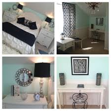 Teenage Girls Bedrooms by Mint Bedroom Teen U0027s Bedroom Paris Theme With Silver Black