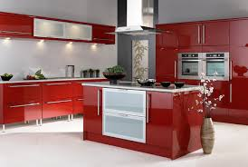 Red Kitchen With White Cabinets Kitchen Cabinets Colors Image Of Kitchen With Cherry Cabinets